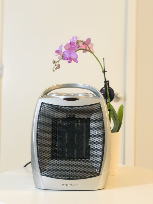 Portable Electric Space Heater with Thermostat, 1500W/750W