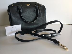Brand New Black Leather Coach Purse. for Sale in Denver, CO