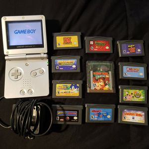 Gameboy Advance SP w/ 11 Games, Original Charger for Sale in Fillmore, CA