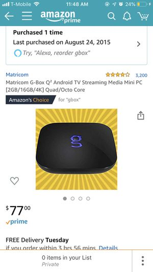 Matricom GBox Android TV for Sale for sale  New York, NY