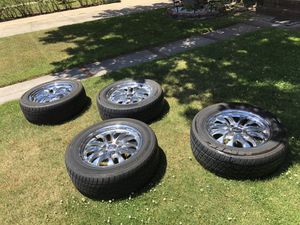 Chevy chrome 6 lug rims and tires for Sale in Valley Stream, NY