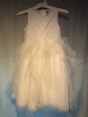 Kids white dress for flower girl, wedding, special occasion girls dress, size 6, Janie and Jack, like new, wore once for Sale in Orange, CA