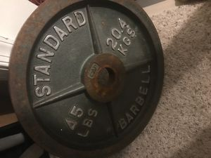 2 Standard barbell 45lbs for Sale in Triangle, VA