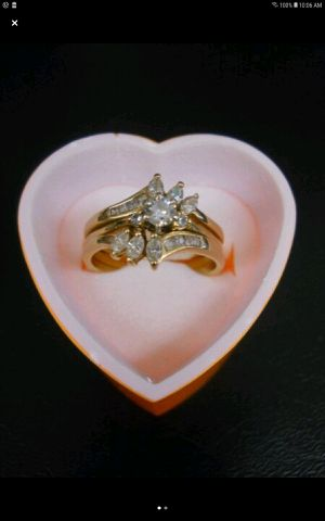 WEDDING RINGS BRIDAL SET DIAMONDS & 14KT YELLOW GOLD for Sale in Columbus, OH