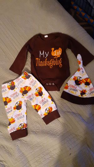 Baby 3 months Thanksgiving outfit for Sale in Washington, DC
