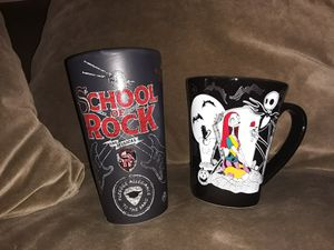 Nightmare before Christmas mug Disney store school of rock for Sale in Philadelphia, PA