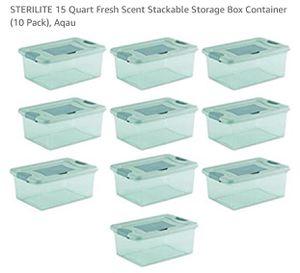 Sterilite 15 Quart Fresh Scent Stackable Storage Box Containers (10 ct.) for Sale in Lexington, KY