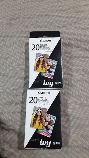 2 pack Canon Zink photo paper for Sale in Napa, CA