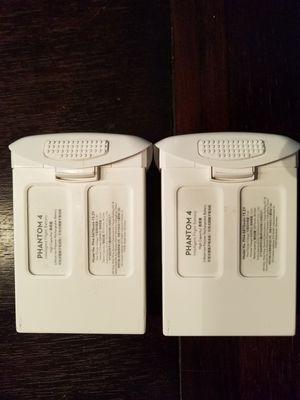Two DJI Phantom 4 Drone High Capacity Batterys for Sale in Beaverton, OR