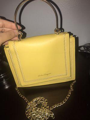 Salvatore Ferrogamo yellow mini handbag for Sale in Chicago, IL