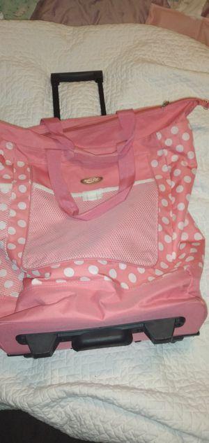 Polka dot rolling bag for Sale in Phoenix, AZ