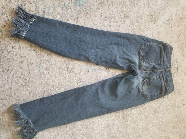 Super Cute Fringe Straight Leg Jean's Junior Womens Size 2