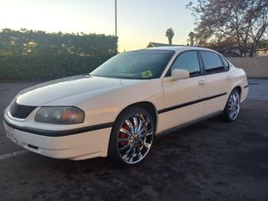 2001 Chevy impala 3.8 V6 on 22 inch Borghini wheels for Sale in San Diego, CA