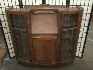 Antique Drop Front Secretary Desk - Delivery Available for Sale in Tacoma, WA
