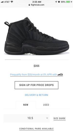 Jordan 12 winter black for Sale in Wichita, KS