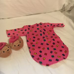 American Girl Retired Pajamas and Teddy Bear Slippers for Sale in Hillsboro, OR