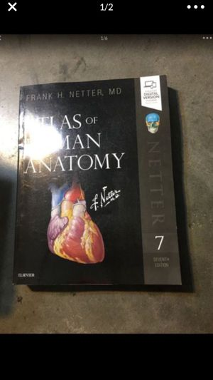 Atlas of Human Anatomy (Netter Basic Science) 7th Edition Cover shows Wears code used. for Sale in City of Industry, CA