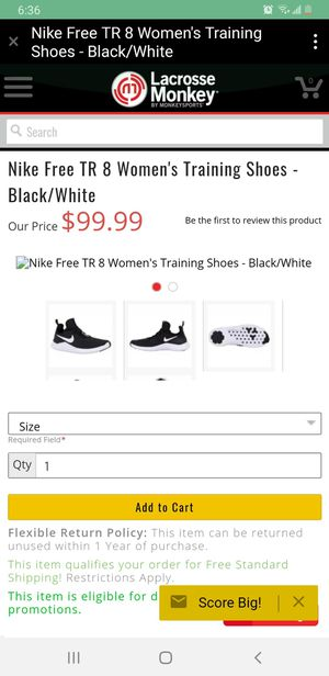Nike Free TR 8 Women's Training Shoes - Black/White for Sale in Brooklyn, NY