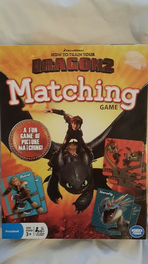 How to train your Dragon matching game for Sale in Los Angeles, CA