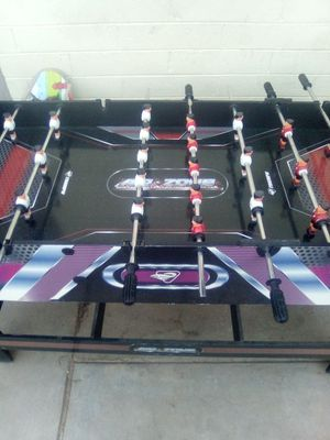 Pool table Foosball table and also air hockey in one for Sale in Phoenix, AZ