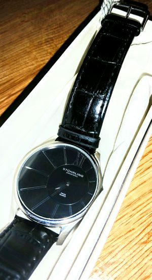Stührling Original Swiss Made Men's Watch With Leather Band for Sale in Aspen Hill, MD
