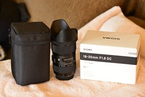 Sigma 18-35mm Art Lens for Sale in Lemon Grove, CA