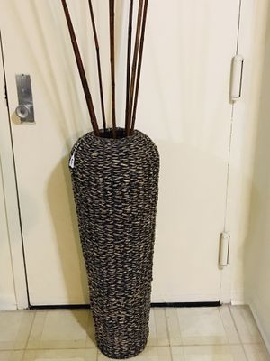 "Still available large 44"" tall wicker vase free sticks pick up Gaithersburg md20877 for Sale in Gaithersburg, MD"
