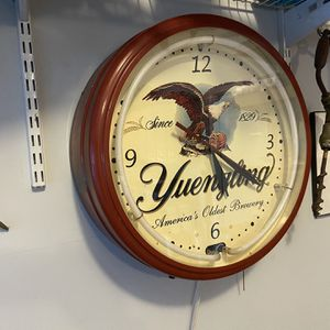 Vintage Yuengling Clock With Neon for Sale in Canton, GA
