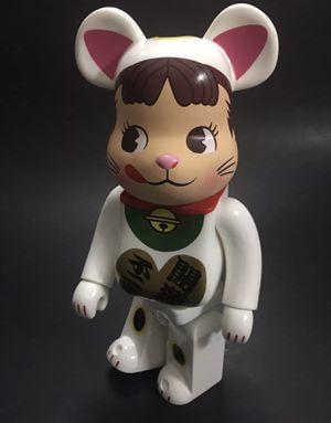 Medicom toy bearbrick be@rbrick 400% Fujiya milky peko lucky cat Neko supreme babybear Figure for Sale in Las Vegas, NV