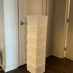 Clear Plastic Shoe Boxes - women X 6 for Sale in Silver Spring, MD