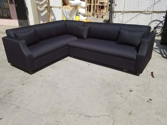 NEW DOMINO BLACK FABRIC SECTIONAL COUCHES for Sale in Santa Ana,  CA
