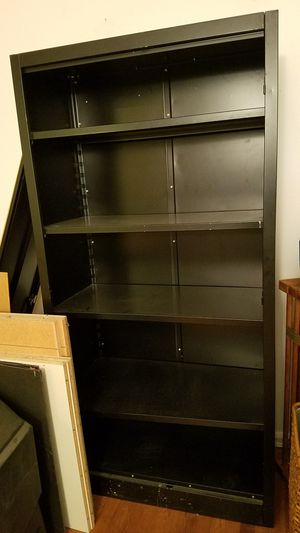 Black 6' tall metal cabinet with shelves for Sale in The Bronx, NY