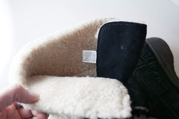 Genuine Leather & Sheepskin Ugg Boots Used Size 8