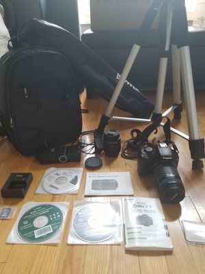 Canon EOS Rebel T3 digital camera and accessories for Sale in Nottingham, NH