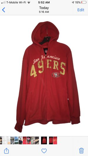 San Francisco 49ers NFL zipped hoodie jacket for Sale in South San Francisco, CA
