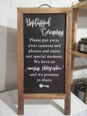 Unplugged ceremony sign for Sale in Tacoma, WA