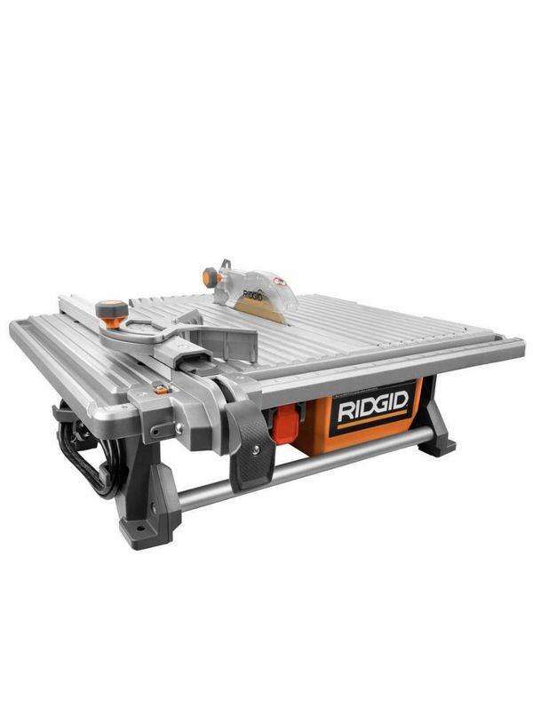 RIDGID 6.5 Amp Corded 7 in. Table Top Wet Tile Saw