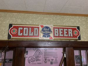Vintage Pabst Blue Ribbon Beer Sign for Sale for sale  Johnston City, IL