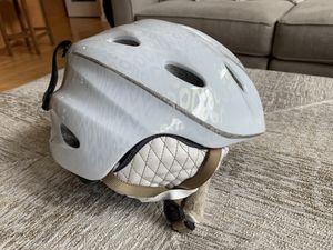 Giro Prima snow helmet - white with translucent leopard print - size Medium for Sale in Kent, WA