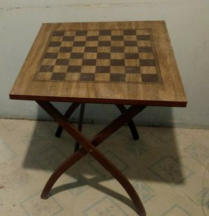 Antique Checkered Card Table for Sale in Newton, KS
