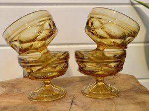 • vintage orange amber glasses glassware • for Sale in Issaquah, WA
