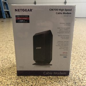 Netgear High Speed Cable Modem CM700 for Sale in San Diego, CA