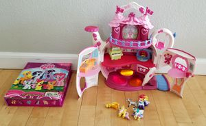 My Little Pony Teapot Playset Light up Musical + Busy Books with 13 ponies for Sale in Rancho Cucamonga, CA