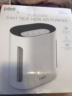 Pure one 3in1 true hepa air purifier for Sale in Columbus, OH