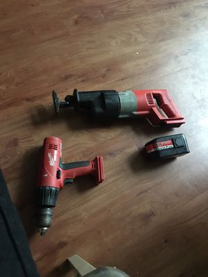 Battery powered drill and saw for Sale in Baltimore, MD