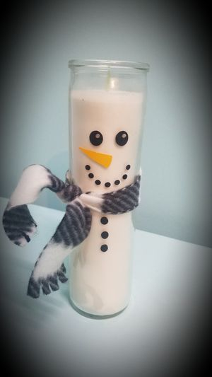 Crafted snowman candle for Sale in Virginia Beach, VA