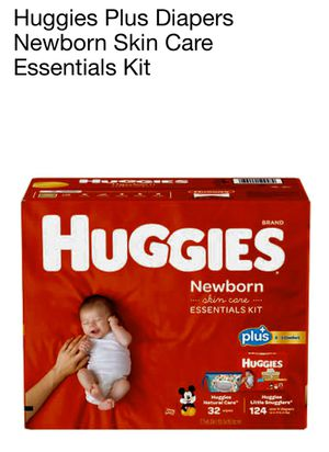 Huggies Plus Diapers Newborn Skin Care Essentials Kit for Sale in Pico Rivera, CA