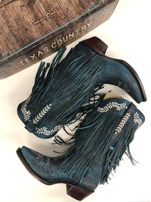 Texas Country Golden Guns Fringe Women's Western Boots for Sale in Austin, TX
