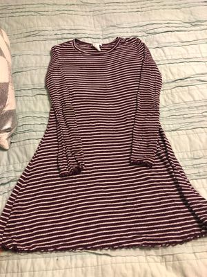 Girls long sleeve striped dress sz 7-8 (forever 21) for Sale in Fresno, CA