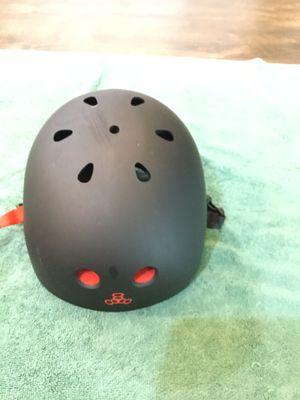 Triple Eight Sweatsaver Liner Skateboarding Helmet, Black Rubber w/ Red, Small for Sale in Chandler, AZ